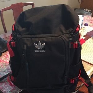 Adidas backpack. Red and black